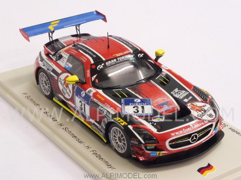 Mercedes Sls Amg Gt3 Car Coll.Motorsport Adac Nurburgring 2014 Spark 1:43 SG157