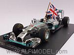 Mercedes F1 W05 #44 Winner GP Abu Dhabi 2014  World Champion 2014 Lewsi Hamilton (with flag) by SPARK MODEL