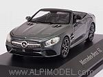 Mercedes SL-Class Cabriolet 2015 (Selenite Grey) (Mercedes Promo) by SPARK MODEL