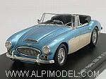 Austin Healey 3000 Mk3 Road Version 1965 (Light Blue Metallic/White) by SPARK MODEL