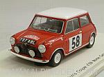 Morris Mini Cooper #58 Rally Monte Carlo 1963 Mayman - Domleo by SPARK MODEL