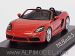 Porsche 718 Boxster S 2016 (Lava Orange) Porsche Promo by SPARK MODEL