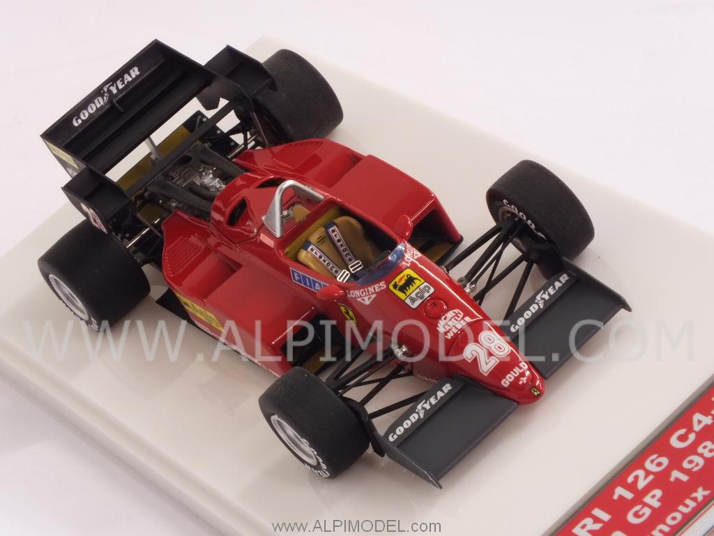 Ferrari 126 C4-M2 #28 GP Europa 1984 Rene' Arnoux  (HQ Metal model) by TAM