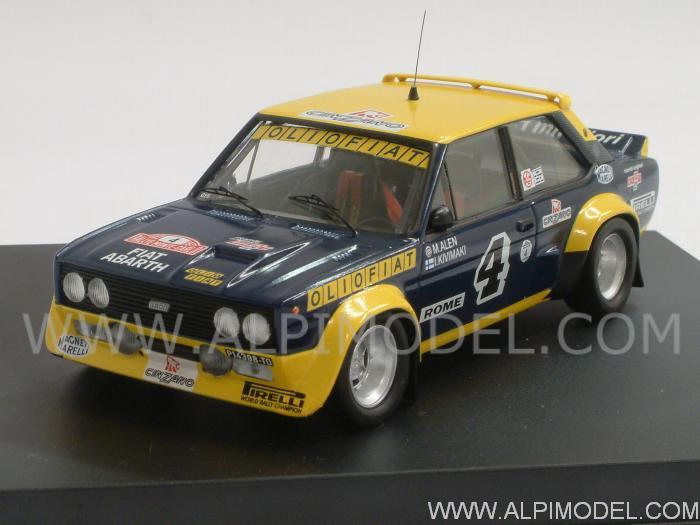 Trofeu Fiat 131 Abarth 4 Rally Monte Carlo 1977 Alen