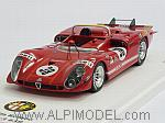 Alfa Romeo Tipo 33/3  #38 Le Mans 1970 Zeccoli - Facetti by TRUE SCALE MINIATURES