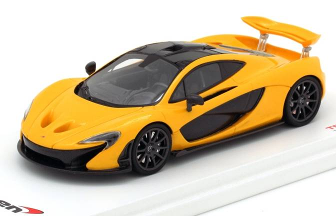 True scale miniatures McLaren P1 Vulcano Yellow Geneva
