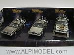 DeLorean BACK TO THE FUTURE Set (3 cars) by VITESSE